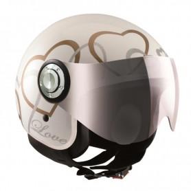 Casco Jet Osbe Love VR White