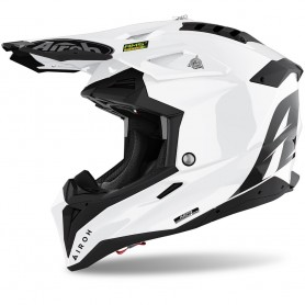 Casco Cross Airoh Aviator 3.0 - Color White Gloss
