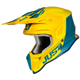 Casco Cross Just1 J18 Pulsar Yellow/Blue Matt
