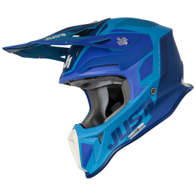 Casco Cross Just1 J18+MIPS Pulsar Blue Matt
